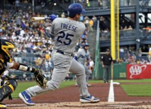 Freese, Dodgers Slam Pirates 10-2