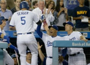 Seager Powers Dodgers Past Braves