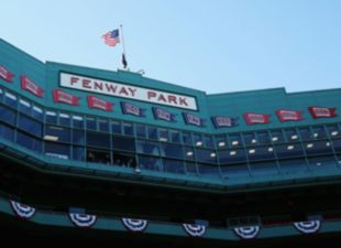 Playing at Fenway Park
