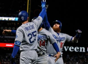 Turner, Dodgers take game 1 over Giants