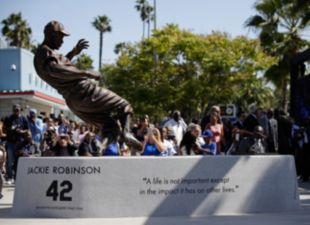 Jackie Robinson Statue Unveiling