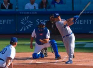 Jerry Hairston Jr. Crushes it at the Old-Timers Baseball Game