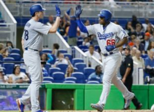 Dodgers rally, beat Marlins 6-4