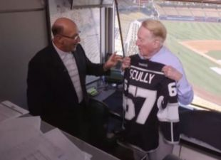 Vin Scully Presented With His Own Kings Jersey