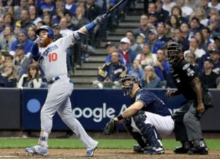 Dodgers top Brewers to tie NLCS series