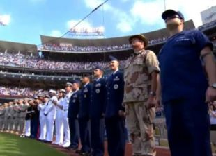 Dodgers honor military on Memorial Day