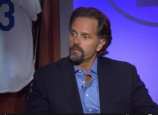 Larry King and Eric Karros