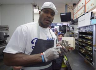 Puig goes to work